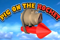 Pig On The Rocket  Icon